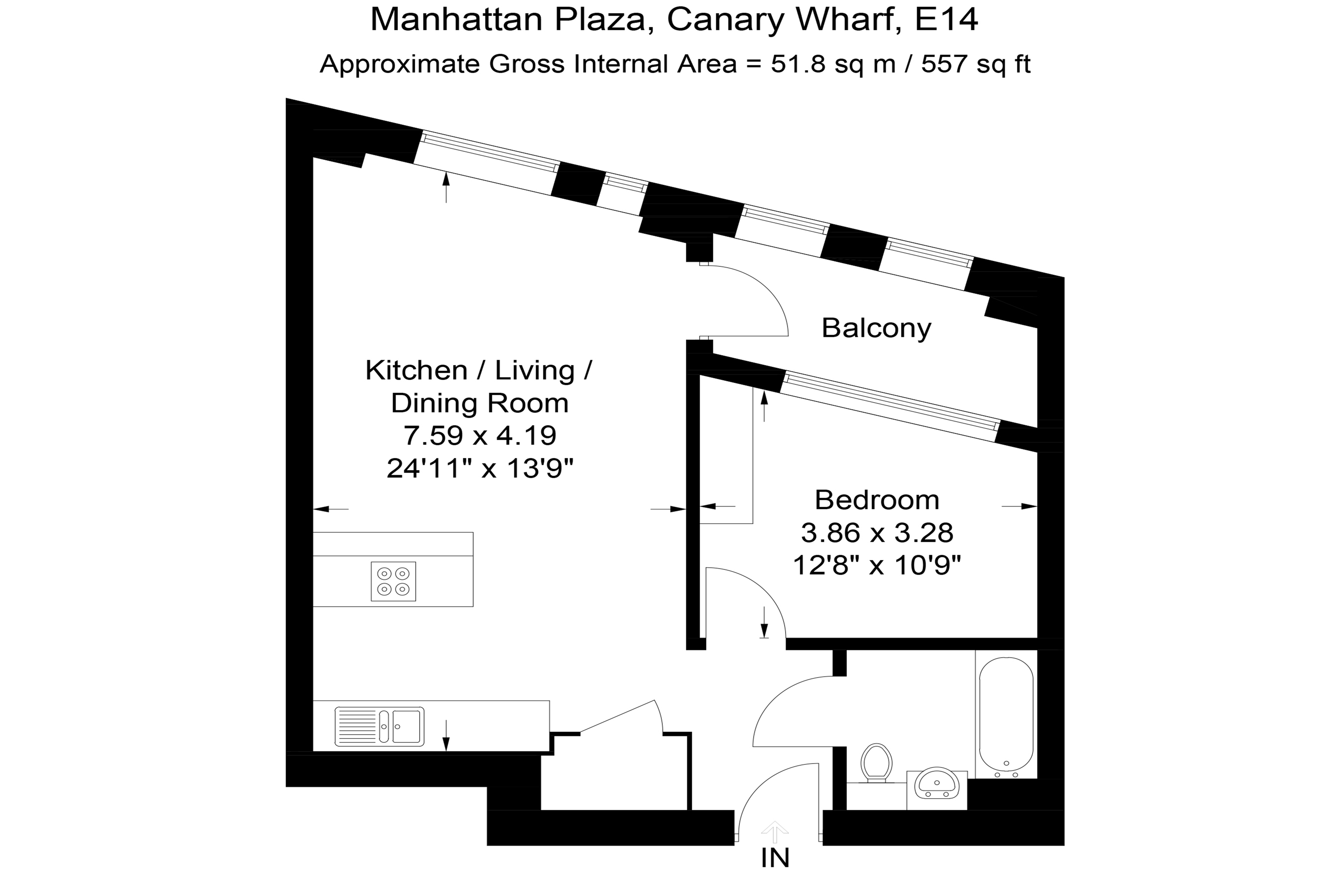 Manhattan Plaza One Bedroom Floor Plan